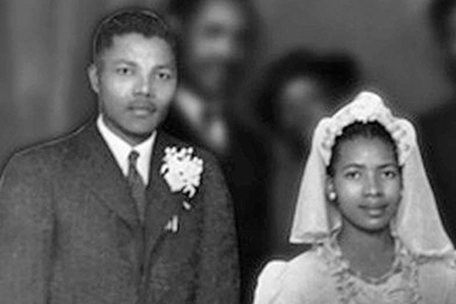 Nelson Mandela e Evelyn sua primeira esposa em 1944