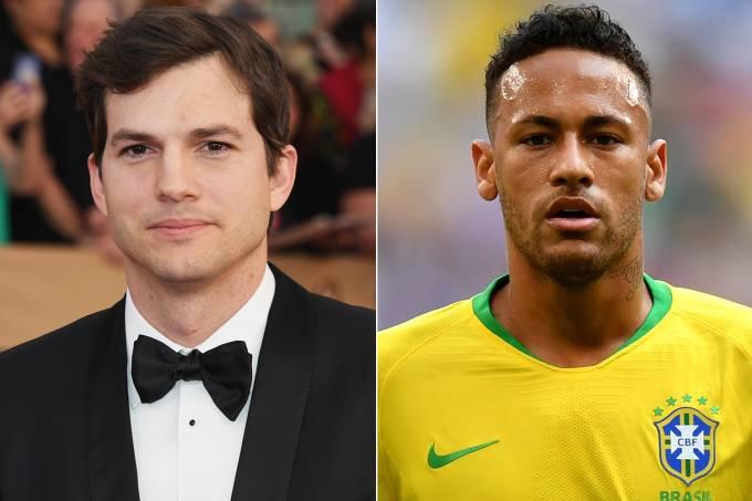 Ashton Kutcher e Neymar Jr.