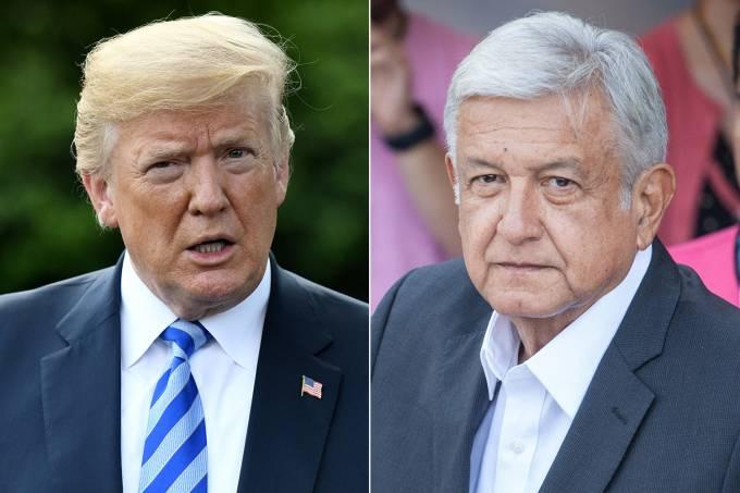 Donald Trump e López Obrador