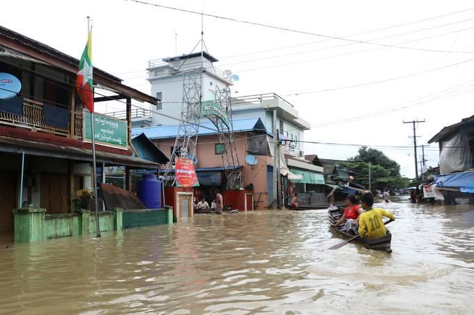 Inundação em Mianmar