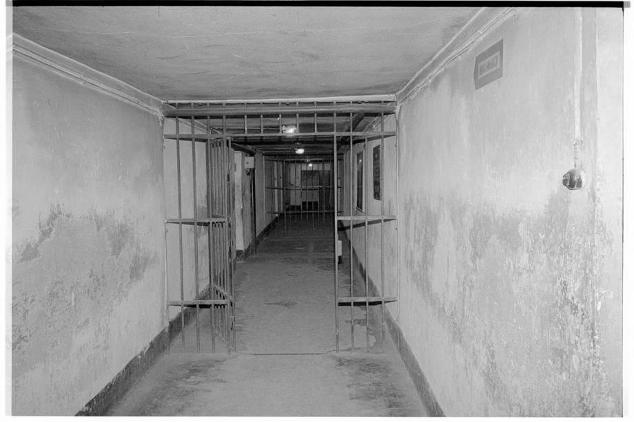 Interior do campo de Auschwitz, na Polônia - 1988