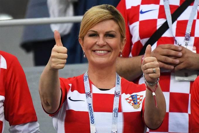A presidente da Croácia, Kolinda Grabar-Kitarovic