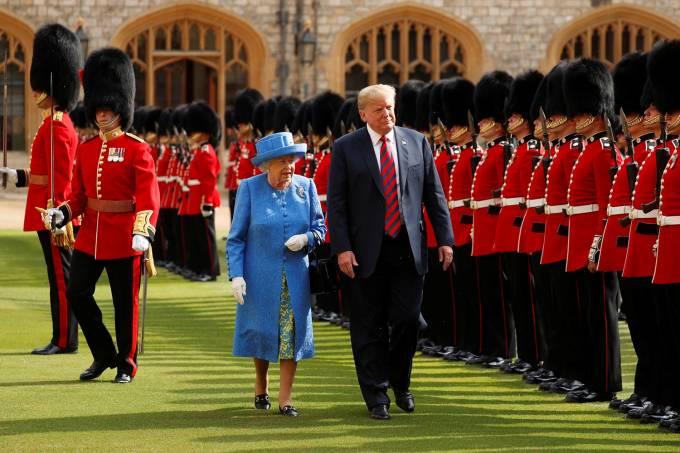 Donald Trump e Rainha Elizabeth II