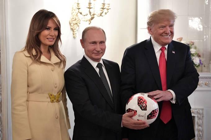 Melania Trump, Vladimir Putin e Donald Trump
