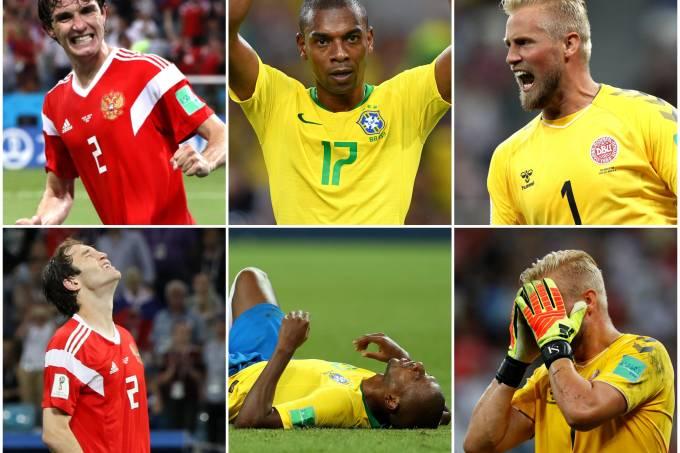 Alegria e decepção na Copa do Mundo