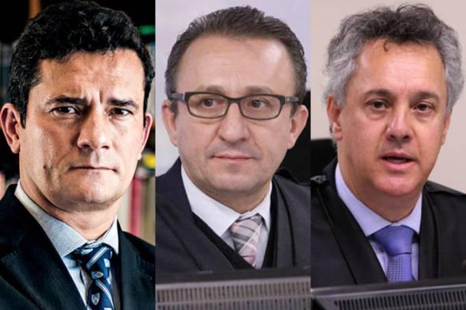 Sérgio Moro, Rogério Favreto e Gebran Neto
