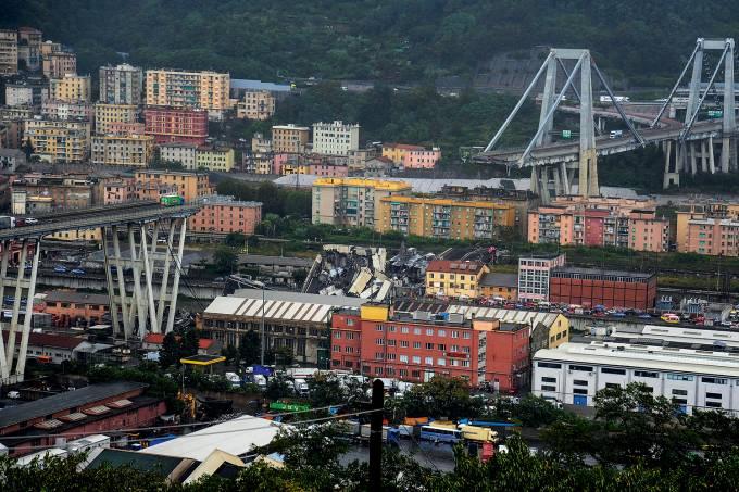 Imagem da semana – Queda de ponte na Itália