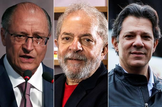 Geraldo Alckmin, Luiz Inácio Lula da Silva e Fernando Haddad