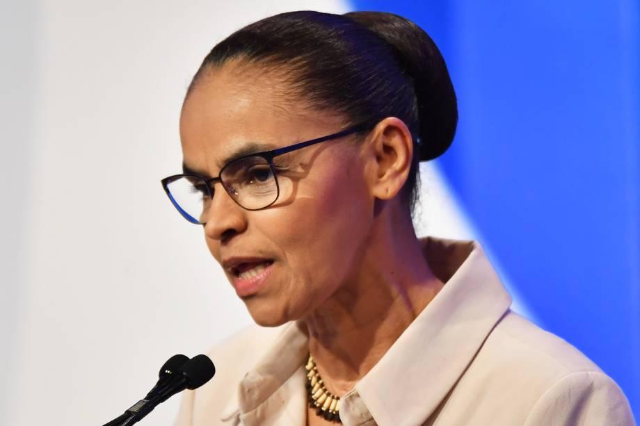 Marina Silva (REDE), candidata à Presidência da República, durante debate realizado pela RedeTV! - 17/08/2018