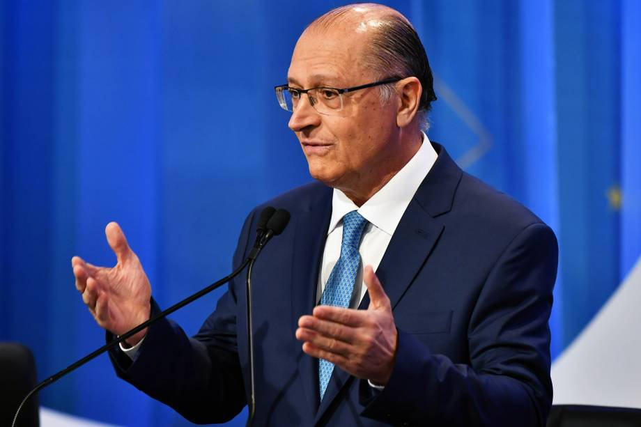 Geraldo Alckmin (PSDB) candidato à Presidência da República, durante debate realizado pela RedeTV! - 17/08/2018