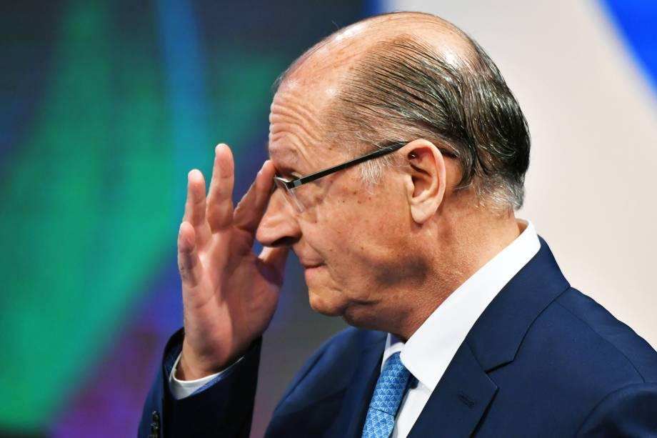 Geraldo Alckmin (PSDB), durante debate presidencial realizado pela RedeTV! - 17/08/2018