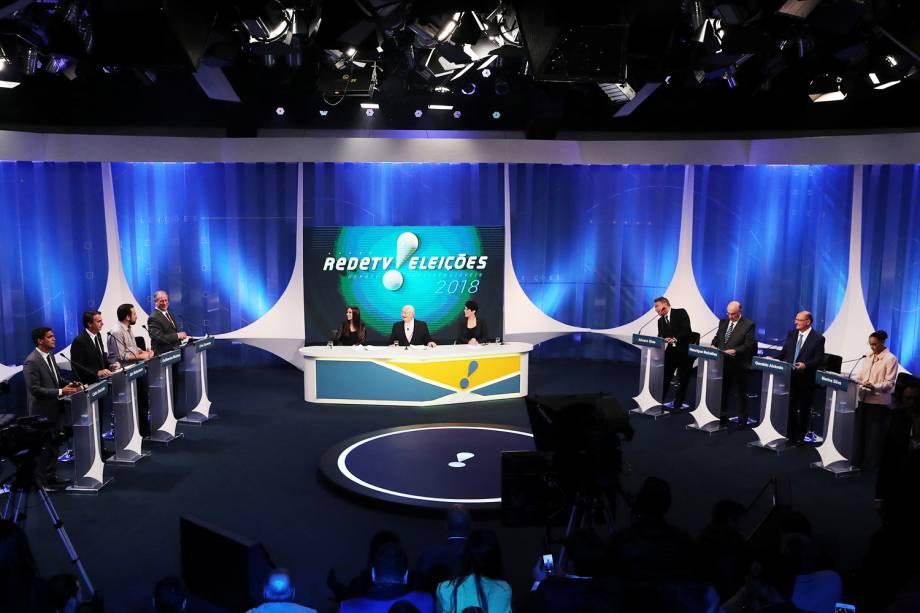 Oito candidatos à Presidência da República participam de debate na RedeTV! - 17/08/2018