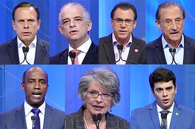 Debate entre candidatos a governador de São Paulo na RedeTV! – João Doria (PSDB), Márcio França (PSB), Luiz Marinho (PT), Paulo Skaf (MDB), Marcelo Cândido (PDT), Lisete Arelaro (PSOL) e Rodrigo Tavares (PRTB)