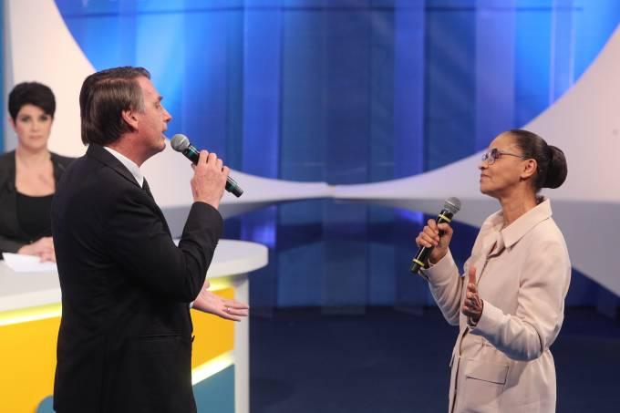 Jair Bolsonaro e Marina Silva