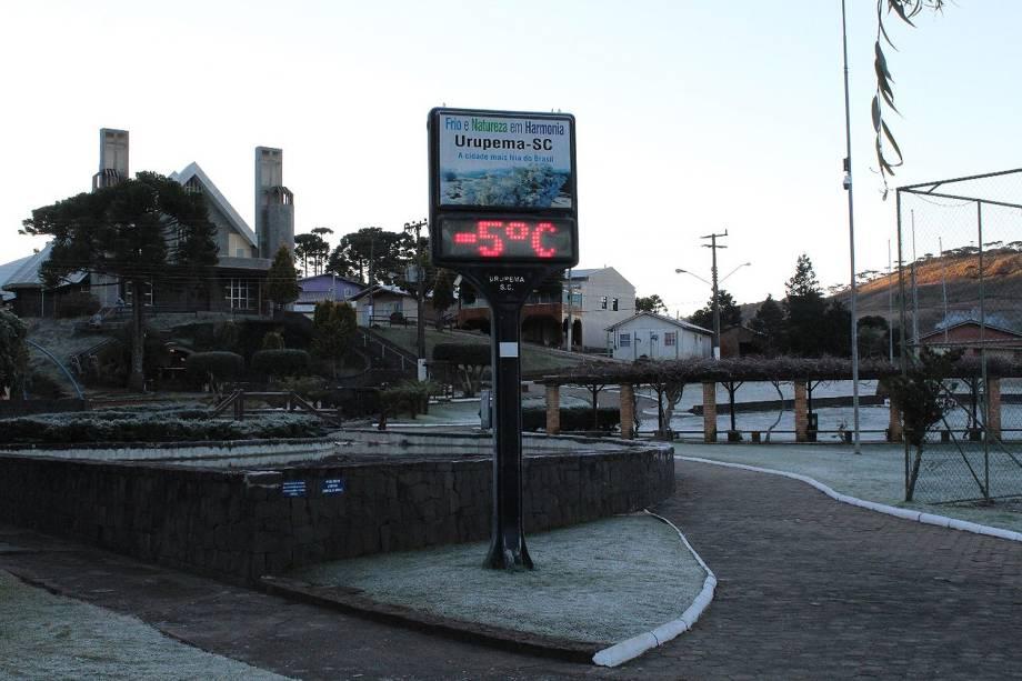 Temperatura negativa em Urupema, Santa Catarina