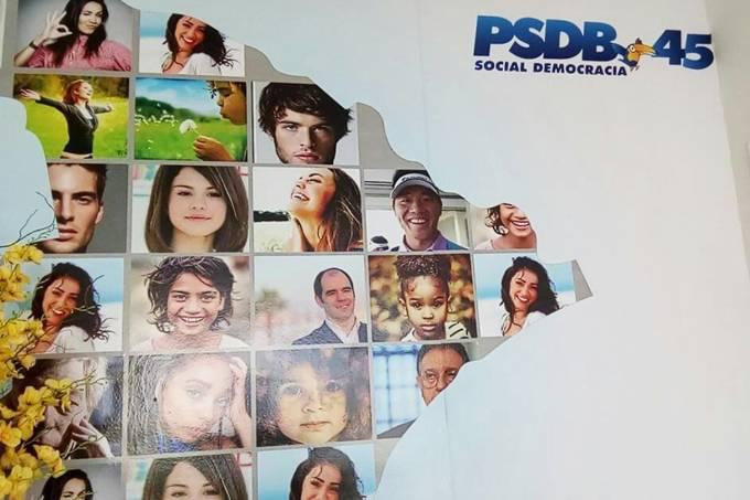 Banner do PSDB com a imagem da cantora Selena Gomez
