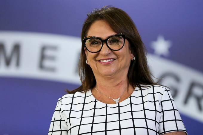 Kátia Abreu, vice-presidente da chapa do Ciro Gomes durante anúncio de candidatura do PDT