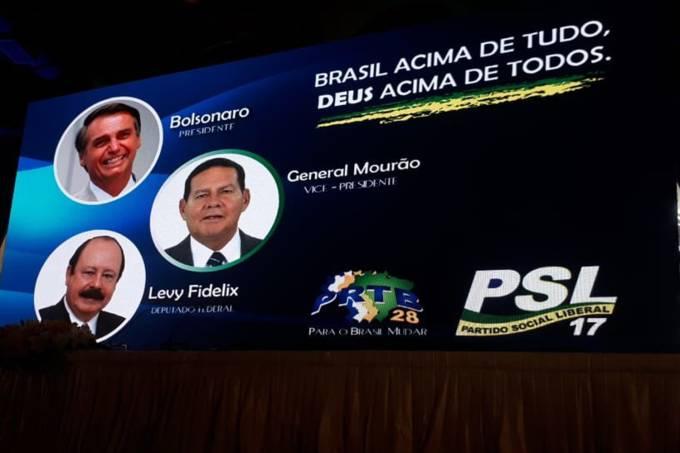 PRTB anuncia general Hamilton Mourão como candidato a vice-presidente na chapa de Jair Bolsonaro durante evento em São Paulo