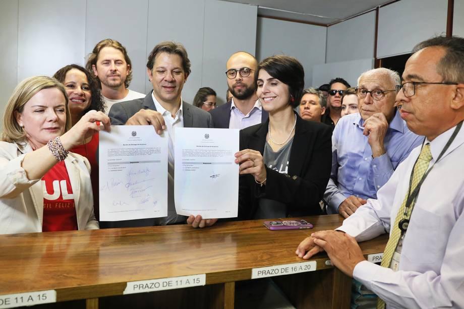 Partido dos Trabalhadores registra candidatura de Lula no TSE - 15/08/2018