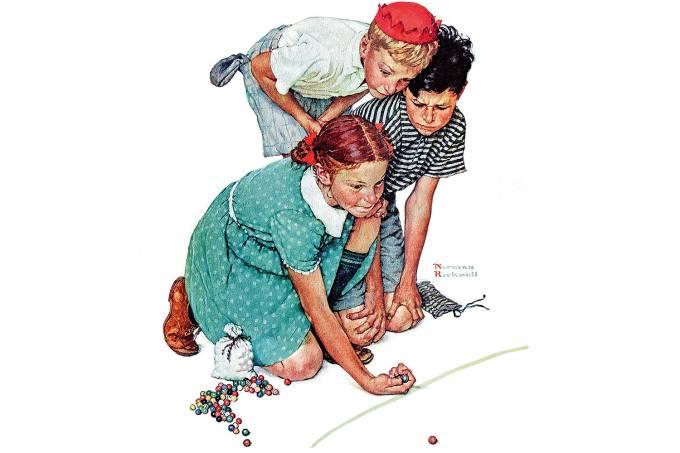Campeã de Bolas de Gude, de Norman Rockwell – Brincar é o melhor remédio