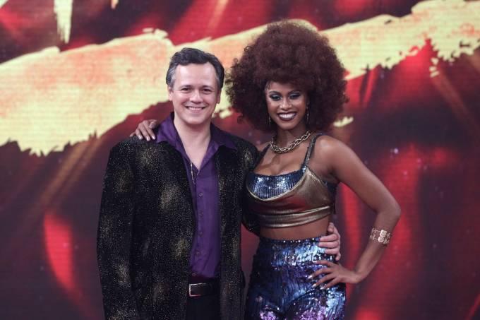 Danton Mello e sua parceira no 'Dança dos Famosos', Brenda Martins