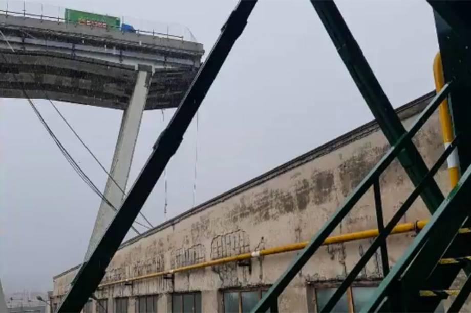 Trecho da ponte Morandi desaba em Gênova, na Itália