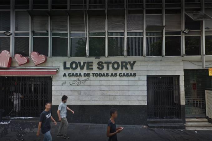 Fachada da boate Love Story em São Paulo
