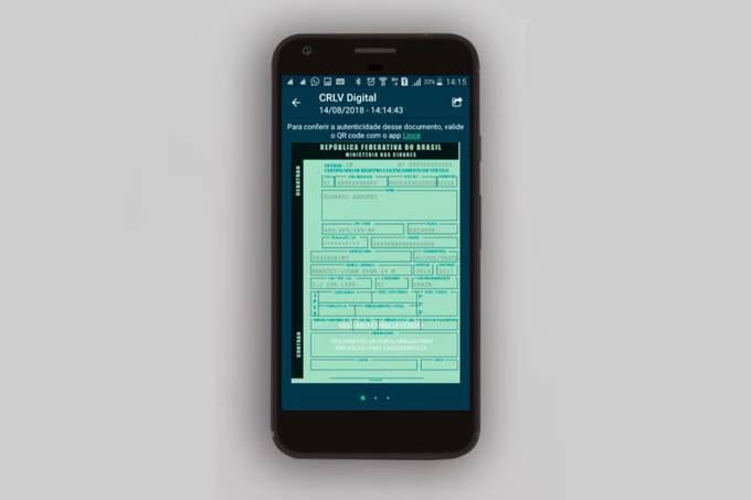 Documento do carro poderá ser consultado pelo aplicativo do celular