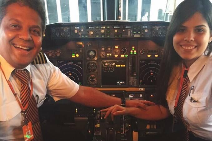 A pilota Barbara Cardoso, da Gol