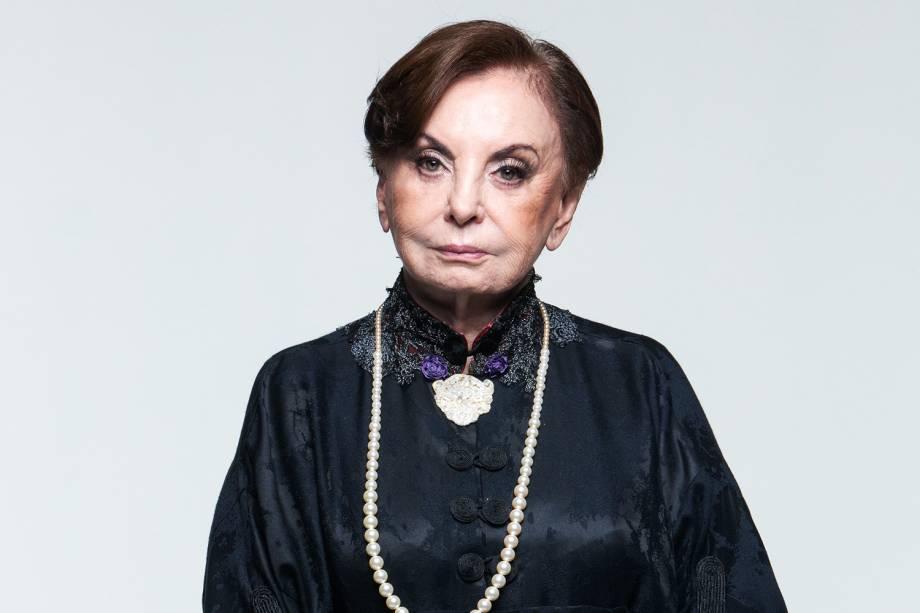 """Beatriz Segall na peça teatral 'Nine - um Musical Felliniano"""", dirigido por Charles Möeller e Claudio Botelho, em 2015"""