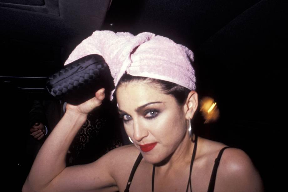 A cantora Madonna na estreia do filme 'Na Cama com Madonna', em Los Angeles - 06/05/1991