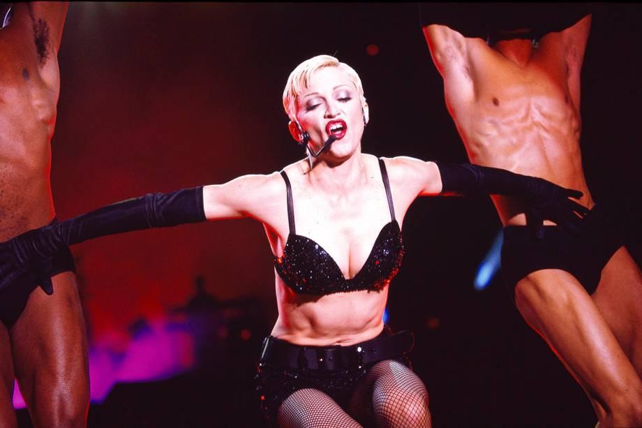 A cantora Madonna realiza apresentação no Wembley Stadium, no Reino Unido - 01/08/1993