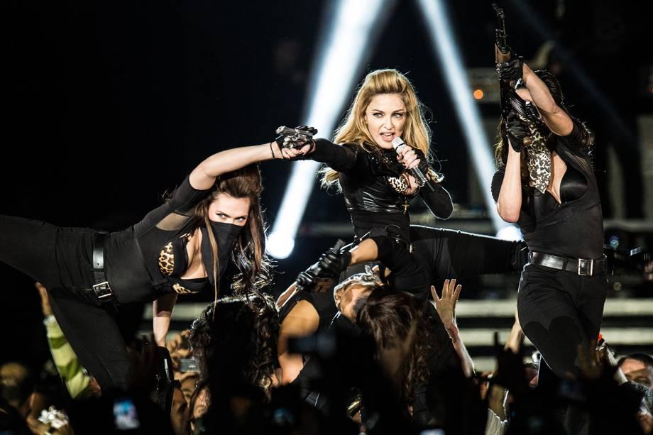 A cantora Madonna realiza apresentação no Stade de France, em Paris -14/07/2012
