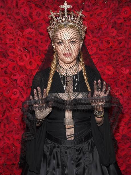 A cantora Madonna participa do Met Gala, no Museu Metropolitano de Arte de Nova York - 07/05/2018