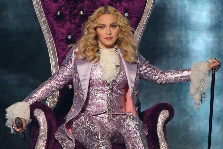 A cantora Madonna no Billboard Music Awards, realizado no T-Mobile Arena, em Las Vegas - 22/05/2016