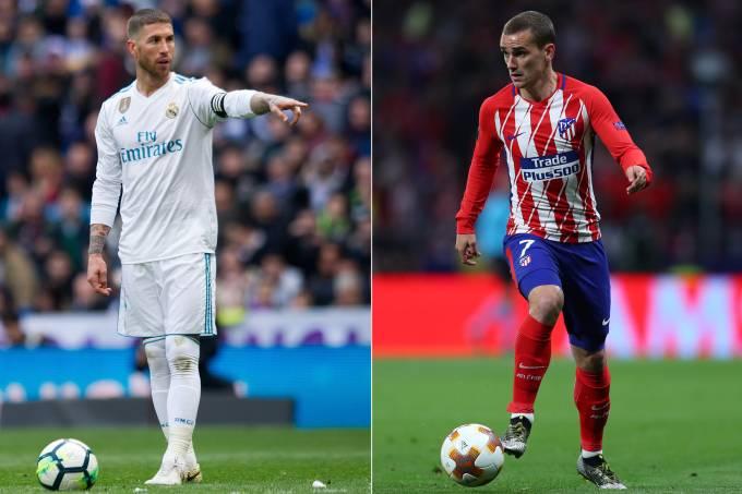Real e Atlético de Madrid se enfrentam durante a Supercopa da UEFA