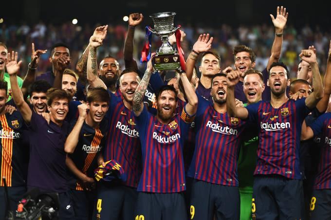 Barcelona conquista a Supercopa da Espanha