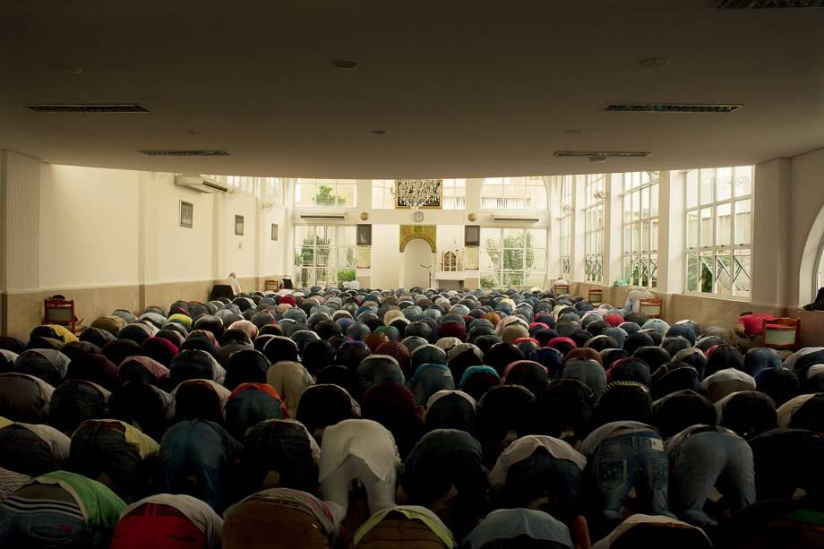 Mesquita no bairro do Pari, em São Paulo (SP),  ponto de apoio a refugiados sírios - 10/04/2015