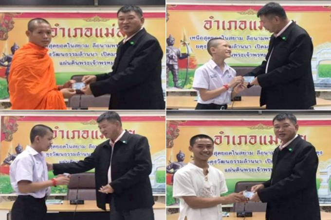 Garotos e treinador dos 'Javalis Selvagens' recebem cidadania tailandesa