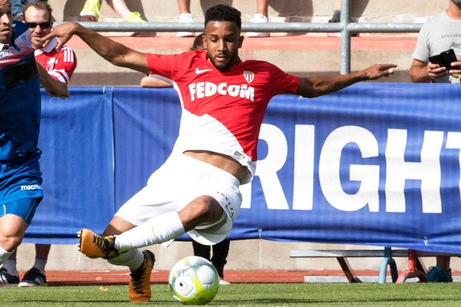 O jogador Jorge, do Monaco, durante partida contra o Stoke City - 15/07/2017