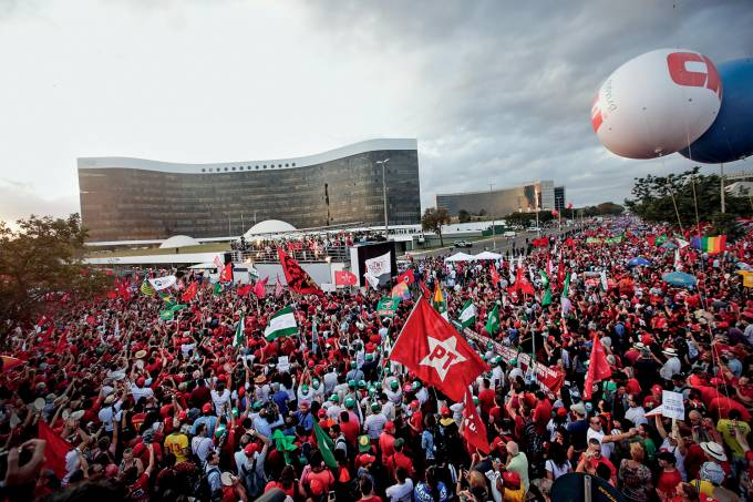 Protesto a favor do registro de candidatura de Lula