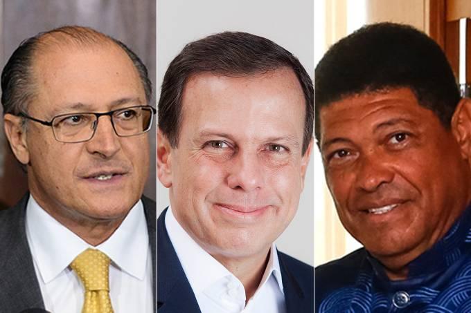 Geraldo Alckmin, João Dória e Valdemiro Santiago