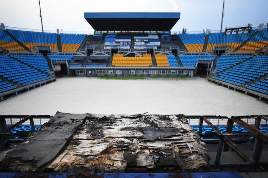 Arena onde foram disputadas partidas de vôlei durante os Jogos Olímpicos de Pequim é vista abandonada - 23/07/2018