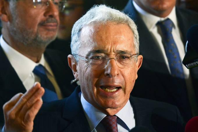 O ex-presidente da Colômbia, Álvaro Uribe