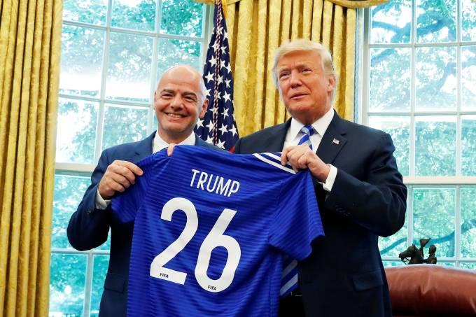 Donald Trump e Gianni Infantino