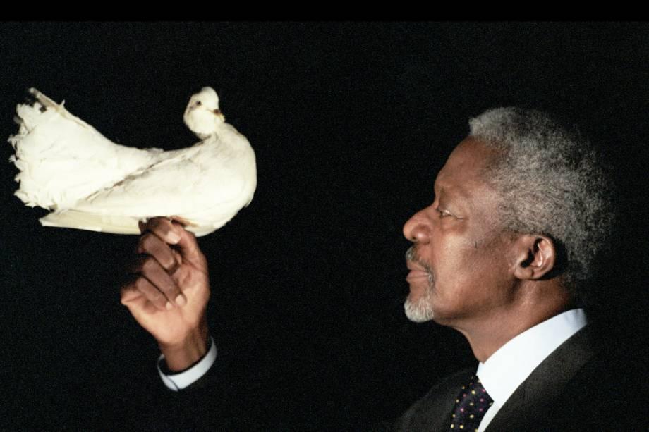Kofi Annan, ganhador do Prêmio Nobel da Paz em 2001