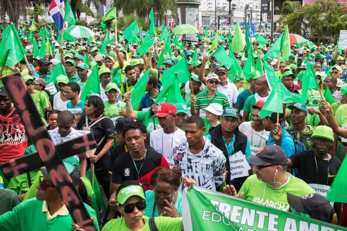 Protesto na República Dominicana contra a impunidade