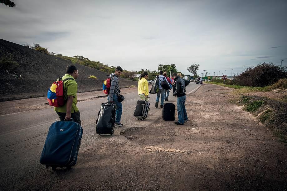 O Brasil está recebendo mais de 70 mil venezuelanos pela fronteira seca em Roraima - 07/03/2018