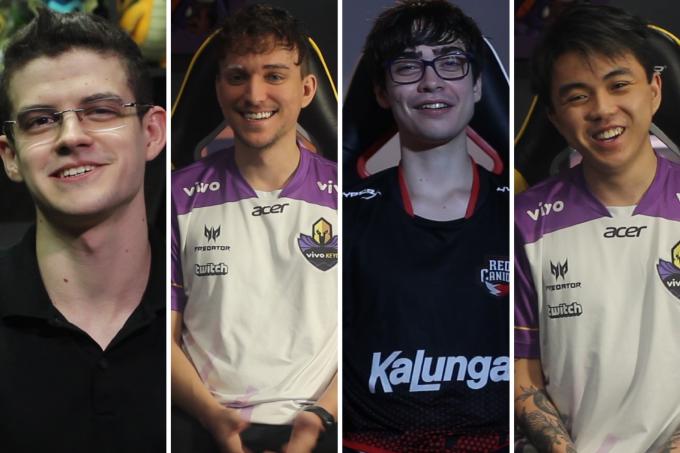 Os jogadores de League of Legends Kami, Mica0,Lep e Yang