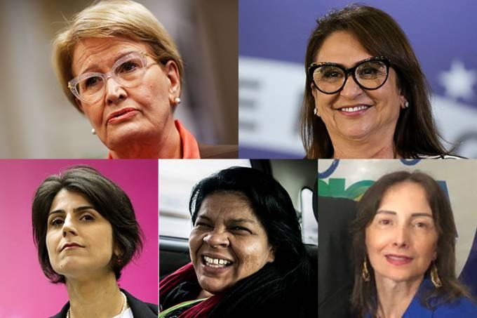 Ana Amélia, Kátia Abreu, Manuela D'Ávila, Sonia Guajajara e Suelene Nascimento